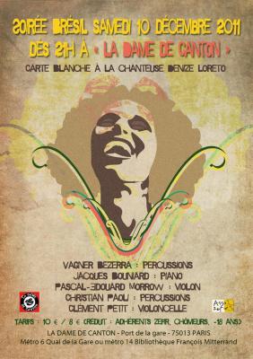 SOIREE BRESIL  / latino / Carte Blanche à la chanteuse Denize Loreto