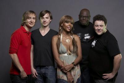 David Guetta, Martin Solveig, Cathy Guetta, Carl Cox, Joachim Garraud