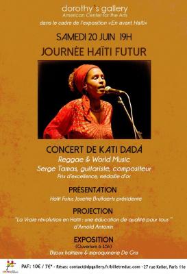Evénément Haïti Futur: Concert Kati Dadá, Vente d'artisanat, Projection