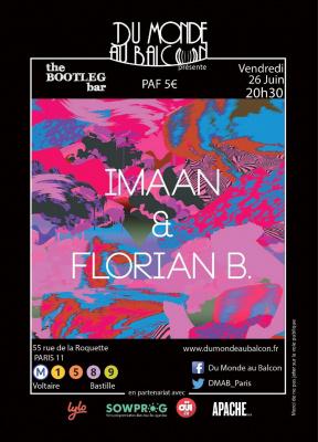 Concert Pop Folk au BOOTLEG BAR (IMaaN + Florian B.)
