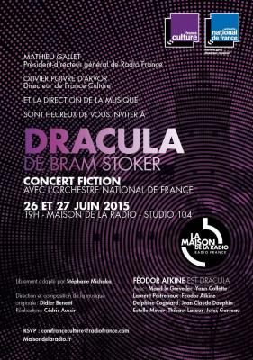France Culture et l'Orchestre National de France  Présentent DRACULA de Bram Stoker - Un concert fiction