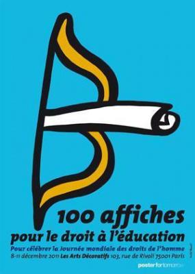 100 affiches pour le droit à l'éducation