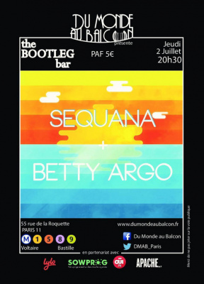 Concert Pop Rock au BOOTLEG BAR (Sequana + Betty Argo)