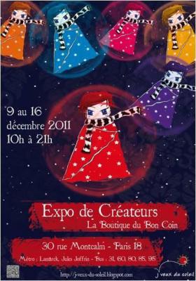 J'veux du Soleil : Expo de Créateurs pour Noël à la Boutique du Bon Coin - 9 au 16 déc