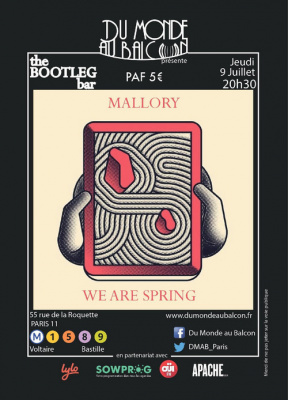 Mallory + We Are Spring au BOOTLEG BAR