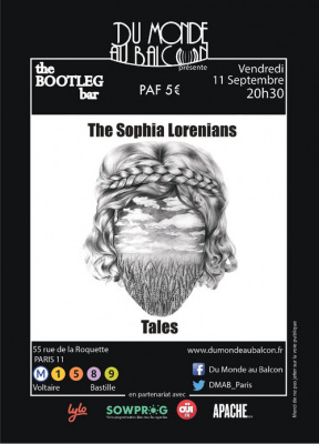 Tales + The Sophia Lorenians au BOOTLEG BAR