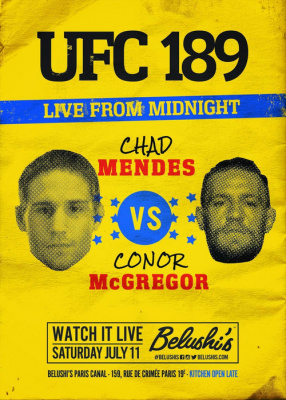 UFC 189 MENDES vs MCGREGOR live in Paris