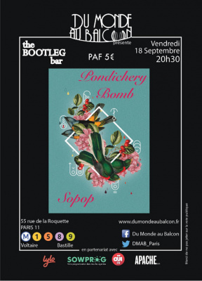 Sopop + Pondichery Bomb au BOOTLEG BAR
