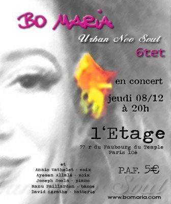Concert Bo Maria Neo Soul 6tet
