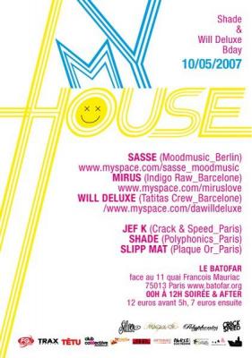 Soirée, My House, Batofar, Minimal, Electro