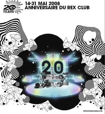 Soirée, Rex Club, 20 ans, Anniversaire, Mai 2008