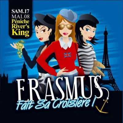 Soirée, Paris, Erasmus, Croisière, Rivers King