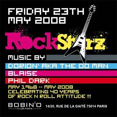 Soirée, Paris, Bobino, Rock, Electro, RockStarz, Dj Dorion, Blaise, Phil Dark