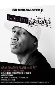 Grandmaster Flash en dj set à la Villette Enchantée