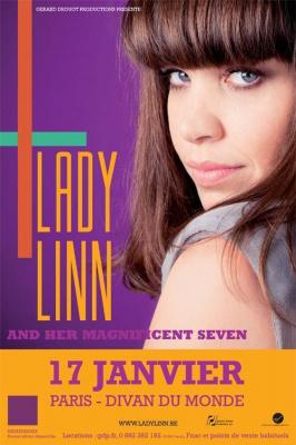 Lady Linn au Divan du Monde avec ses Magnifiscent Seven
