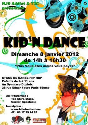 Kid'N Dance : Stage de danse Hip Hop pour les 4 - 11 ans