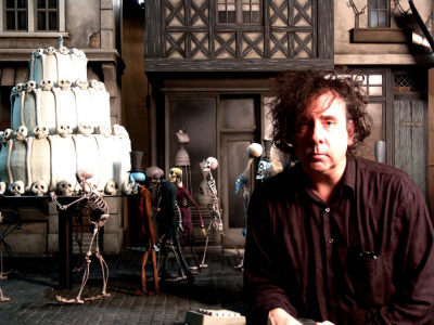 Tim Burton's Corpse Bride (2005) Directed by Tim Burton and Mike Johnson Shown: Co-director Tim Burton on the set Photo credit: Derek Frey