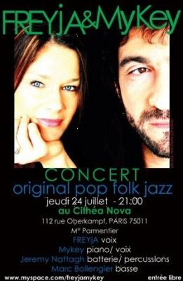 Concert, Paris, Freyja et Mykey, Cithéa Nova