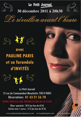 Pauline Paris le Réveillon un jour à l'avance au Petit Journal