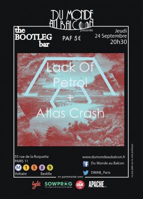 Atlas Crash + Lack Of Petrol au BOOTLEG BAR
