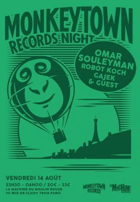 MONKEYTOWN RECORDS NIGHT W/ OMAR SOULEYMAN, ROBOT KOCH, GAJEK & GUEST