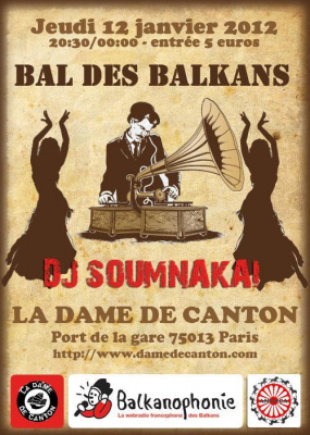 LE BAL DES BALKANS - Le Gypsy Club de Dj Soumnakaï