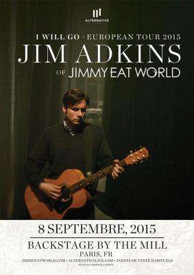JIM ADKINS OF JIMMY EAT WORLD | 08.09.15 | Paris