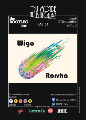 Wigo + Rorsha au BOOTLEG BAR