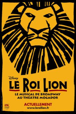 Spectacle, Paris, Roi Lion, Mogador, Musicale