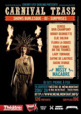 CARNIVAL TEASE- soirée burlesque