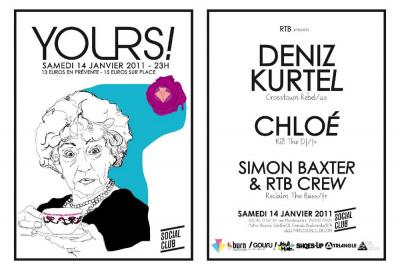 Yours! 14/01/12 @Social Club w/ Deniz Kurtel & Chloe