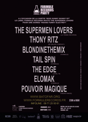 FORMULE RECORDS INVITE THE SUPERMEN LOVERS