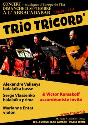 Tricord' invite Victor Korsakoff à l'Abracadabar