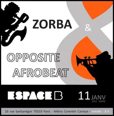 Concert Zorba & Opposite Afrobeat