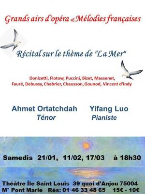 mélodies françaises sur le thème de la mer & grands airs d'opéra