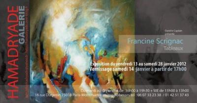 exposition Francine SCRIGNAC tableaux
