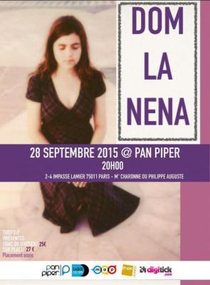 Dom la Nena en concert au Pan Piper !