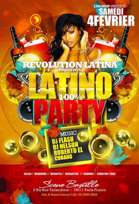 REVOLUTION LATINA PARTY ! 100% LATINO