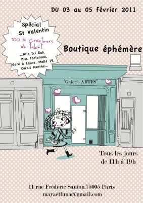 """Boutique éphémère """"special St Valentin"""""""