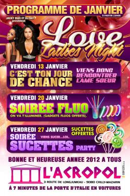 Ce vendredi 20/01/2012 à l'ACROPOL C'est la soirée FLUO !