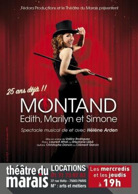 MONTAND, Edith, Marilyn et Simone