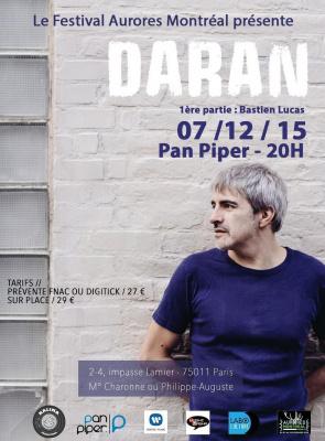 Festival Aurores Montréal présente : Daran au Pan Piper