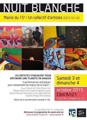 """Nuit Blanche 2015 avec """"Clim'Art 21"""""""