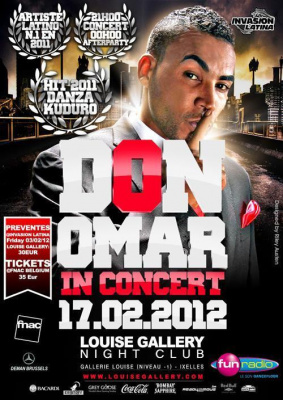 "DON OMAR ""EL REY"" CONCERT * 17-02-2012 @ LOUISE GALLERY BRUSSELS"