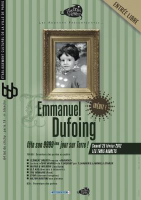 Emmanuel Dufoing fête son 9999ème jour sur Terre