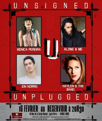 Concert Unsigned & Unplugged (Jon Norris, Alone and Me, Monica Pereira, Haylen and the Band)