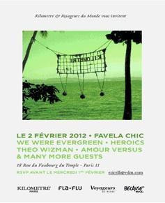 FLA-FLU WEEK ARTY DAY : VERNISSAGE KILOMETRE & VOYAGEURS DU MONDE A LA POP UP GALERIE avec live WE WERE EVERGREEN +HEROICS