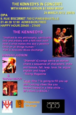 THE KENNEDYS IN CONCERT! WITH HANNAH JUDSON AND TARAH WHO?