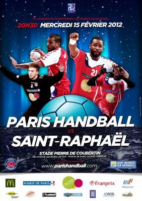 PARIS HANDBALL - SAINT RAPHAEL Championnat de France de Handball