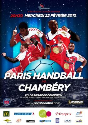 PARIS HANDBALL - CHAMBERY 8ème de finale Coupe de France de Handball